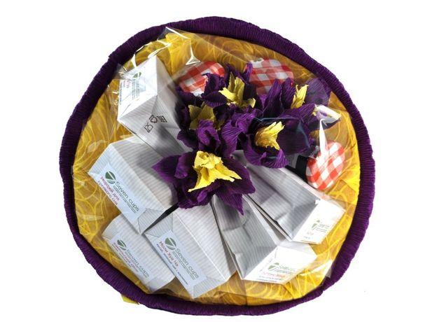 Букет из чая - Анютины Глазки - Подарочный набор чайный букет, изображение 2